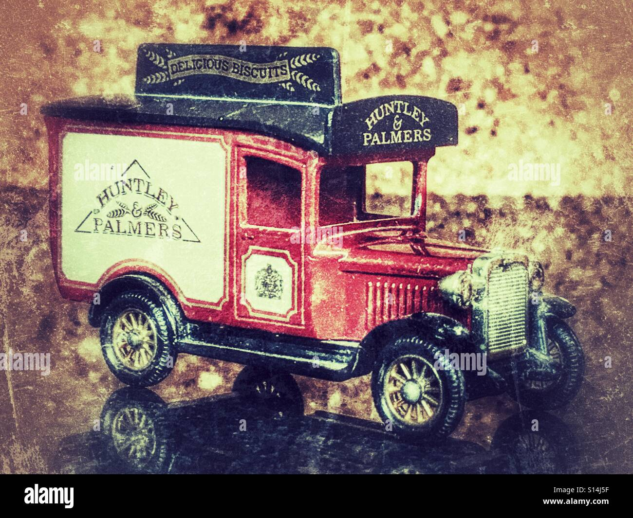 Diecast vehicle, Huntley & Palmers delivery truck Stock Photo