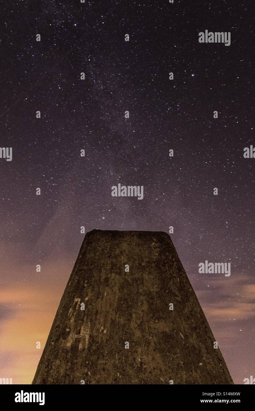 Milky Way galaxy at Ivinghoe Beacon - Stock Image