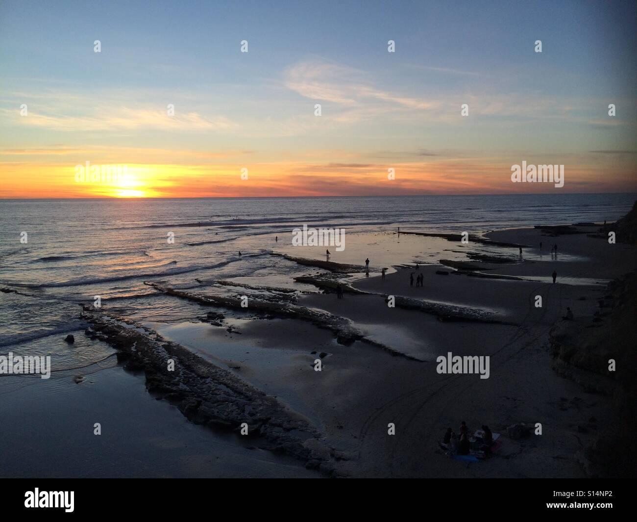Low tide - Stock Image