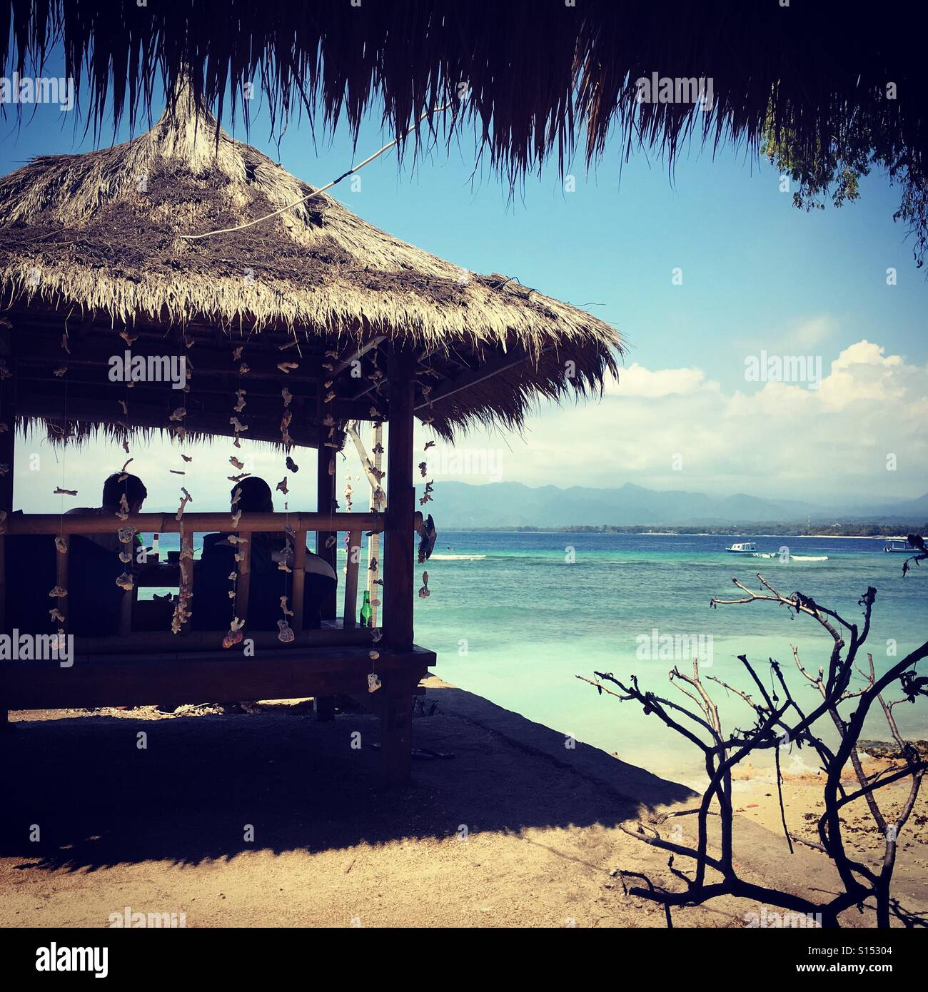 Gili Air beach - Stock Image
