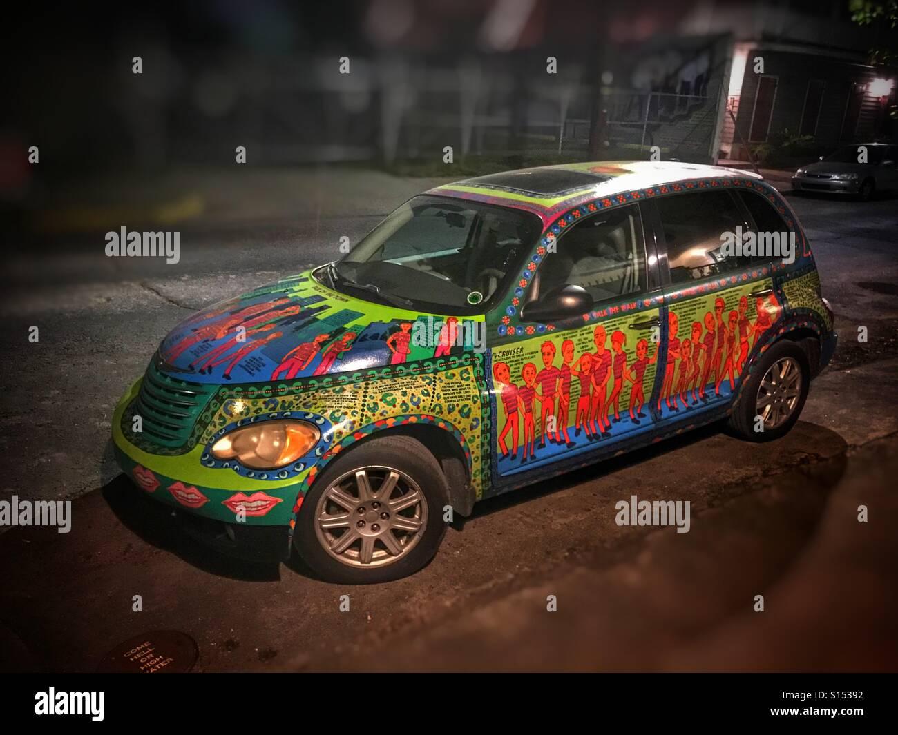 New Orleans art car Stock Photo
