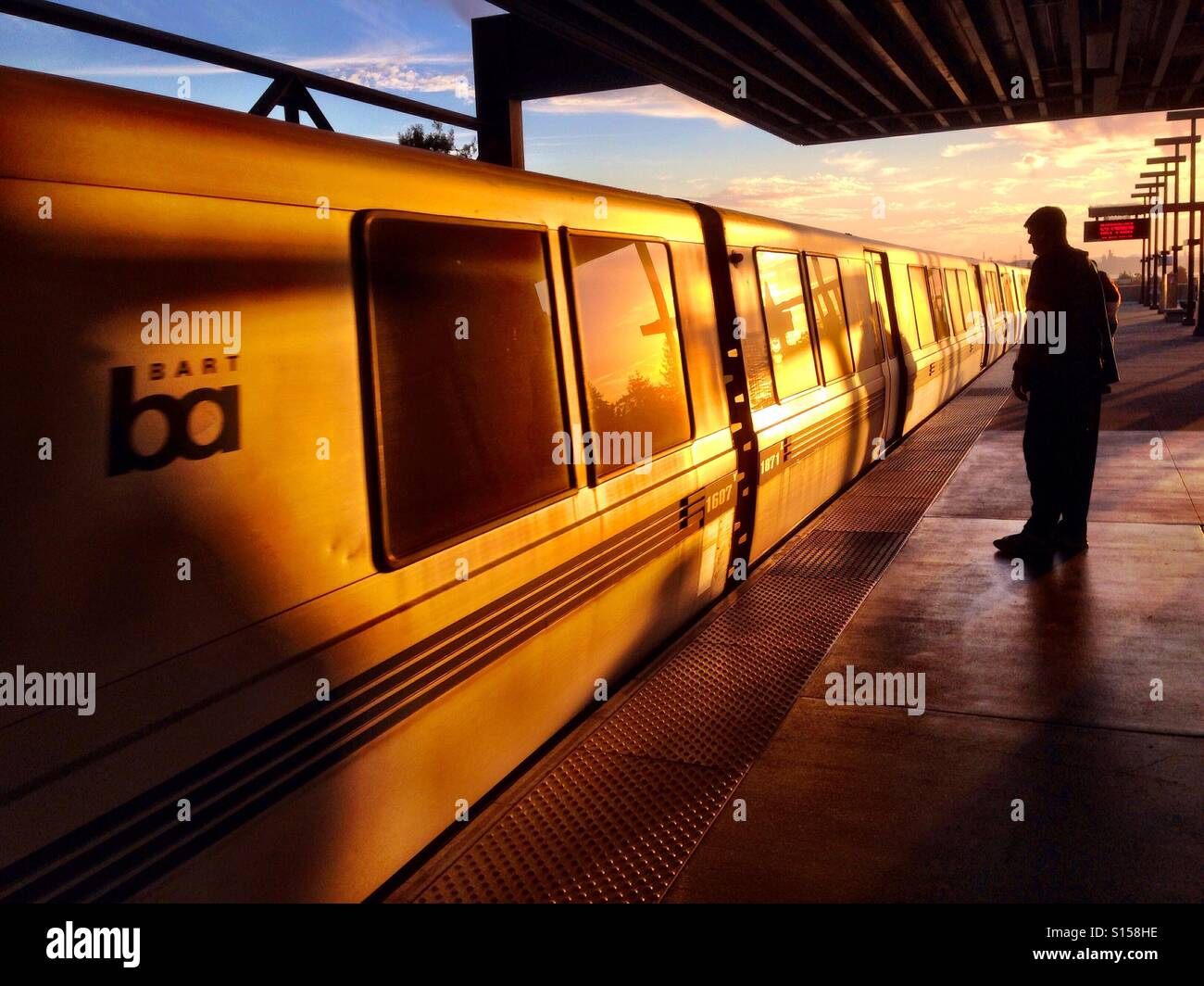 Bay Area Rapid Transit train - Stock Image