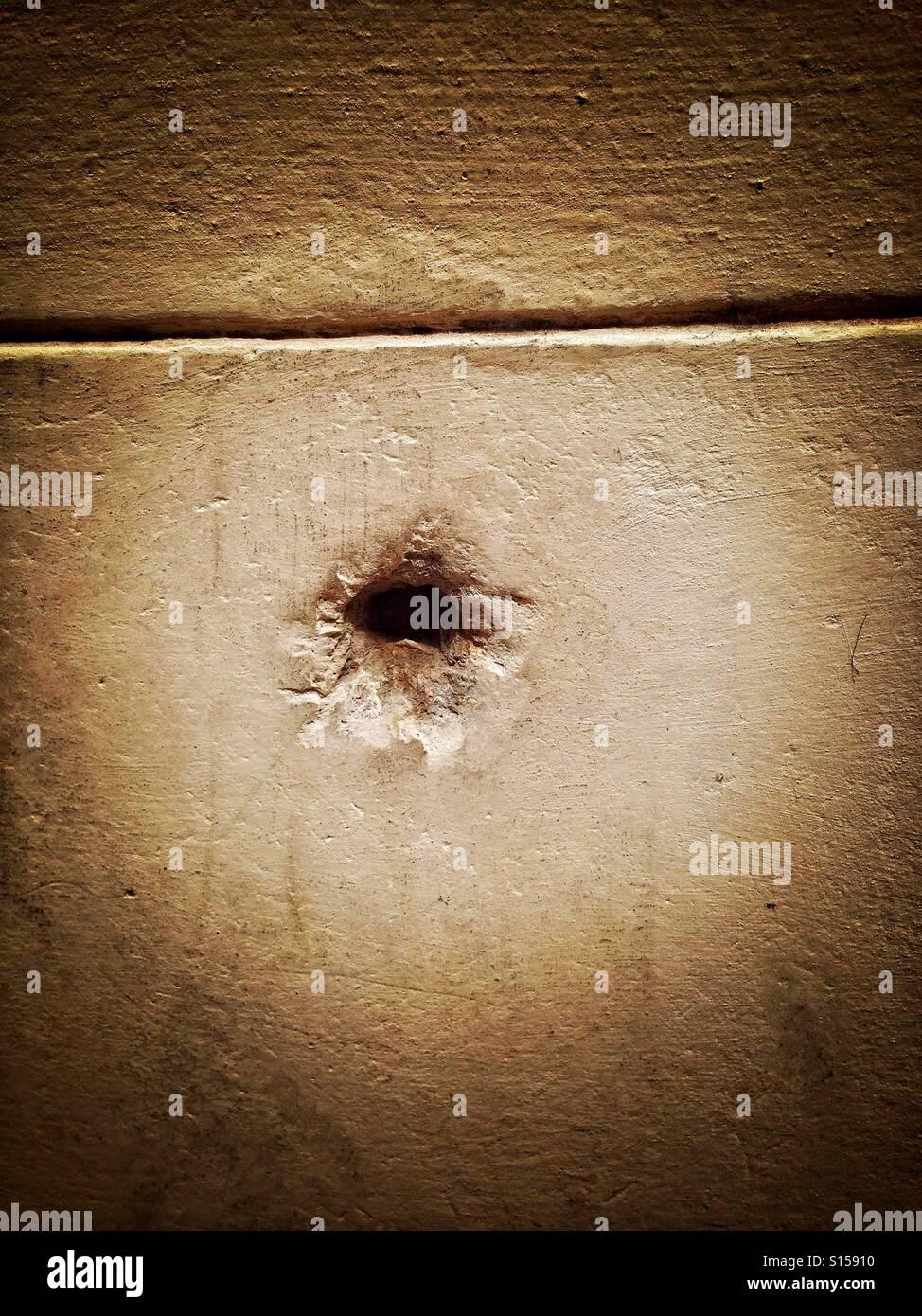 Bullet hole - Stock Image