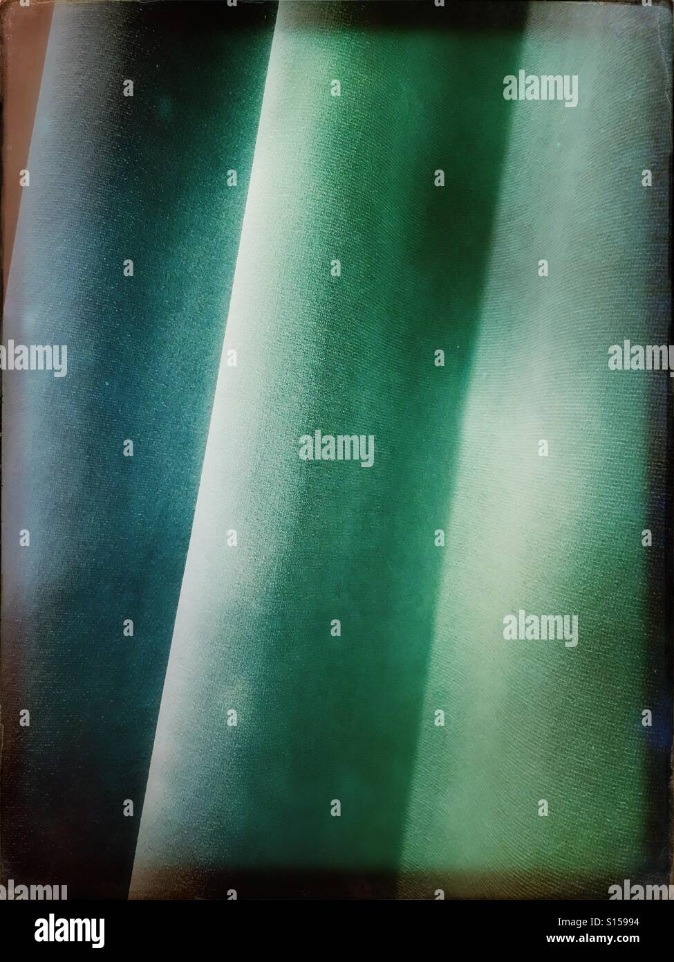 Velvet curtain fabric - Stock Image