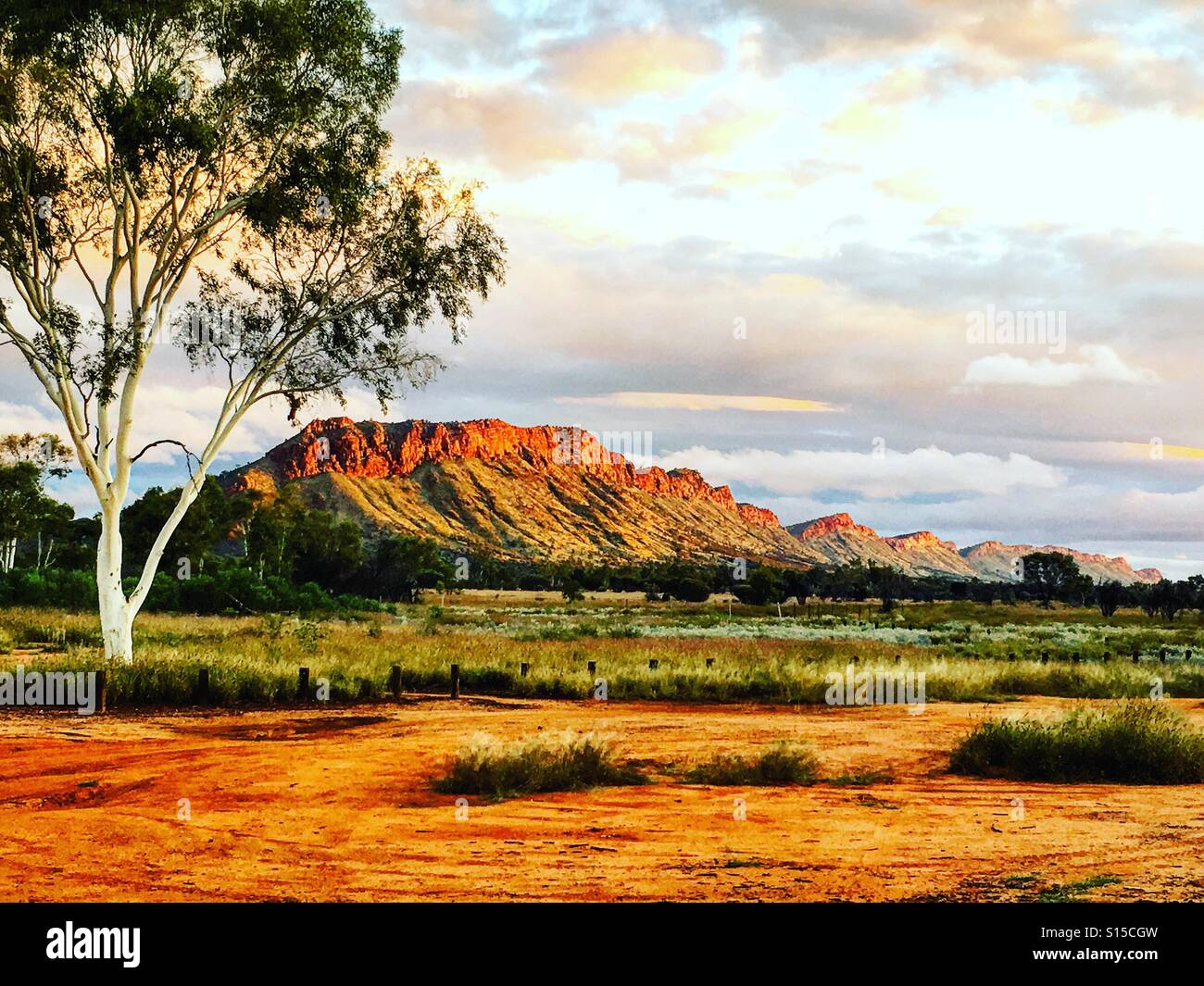 Outback Australia Macdonald ranges in Northern Territory - Stock Image