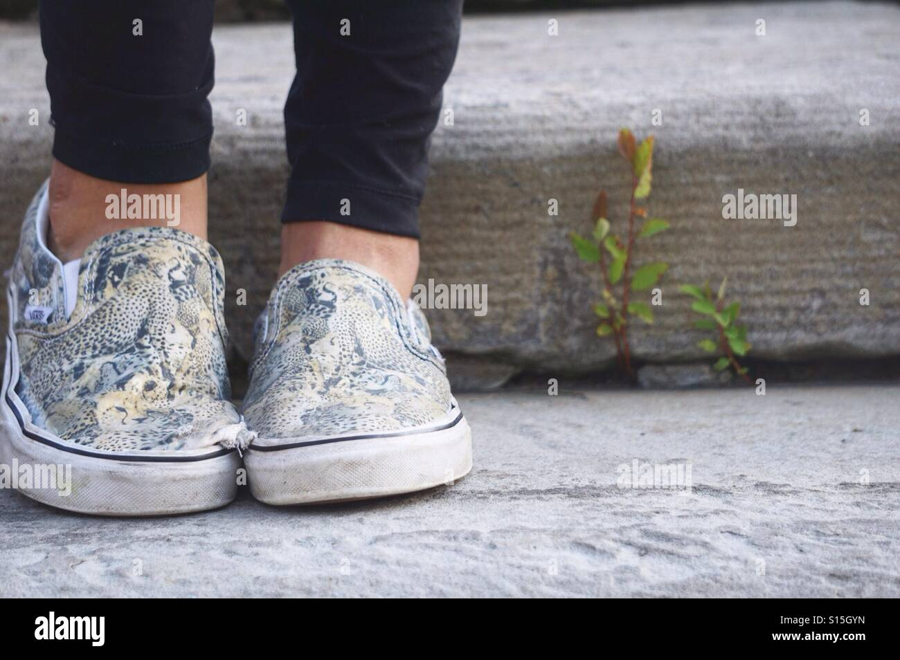 Feet in focus - Stock Image