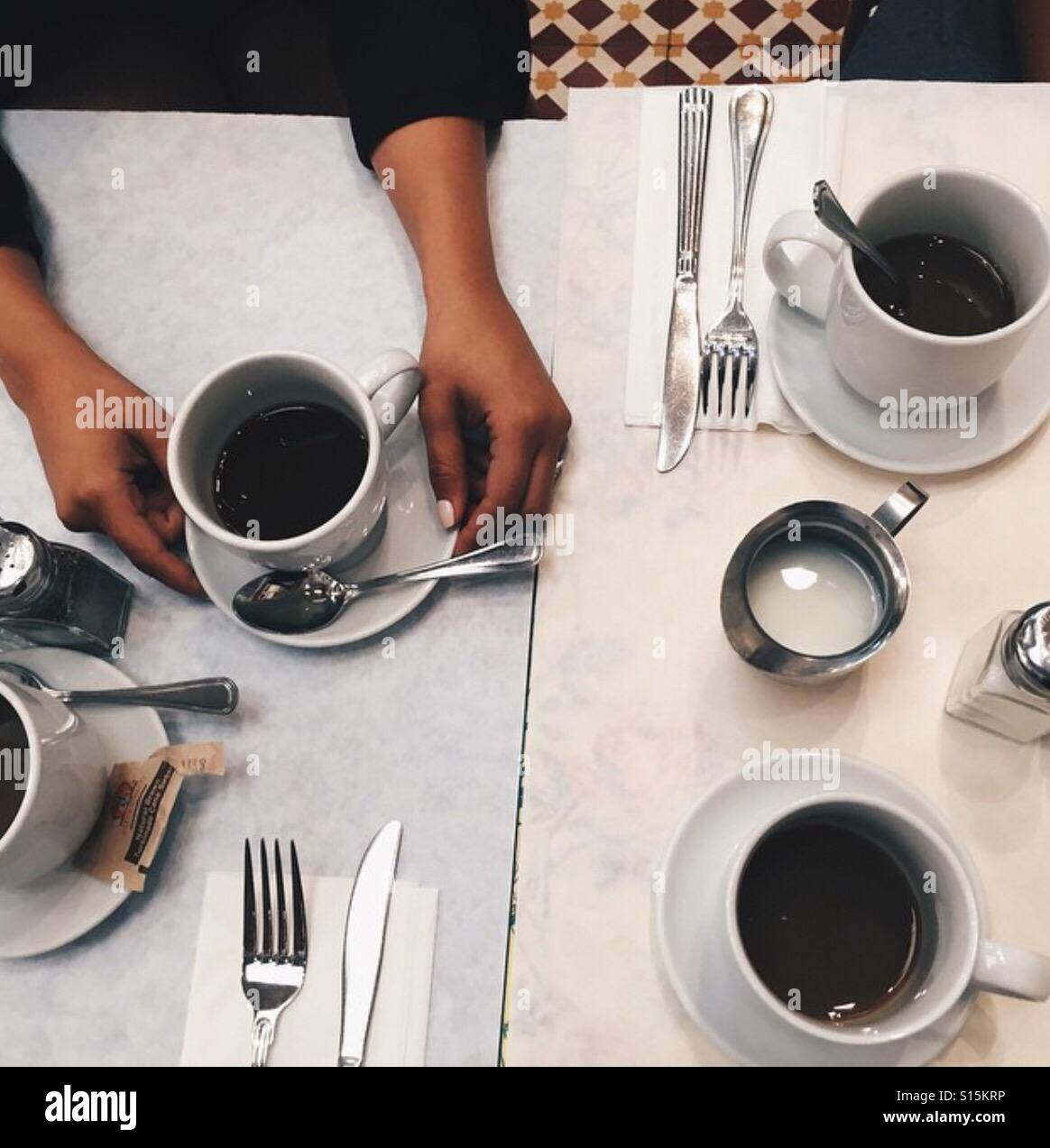 Diner Coffee - Stock Image