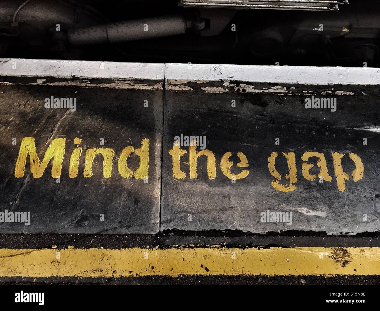 Mind the gap - Stock Image