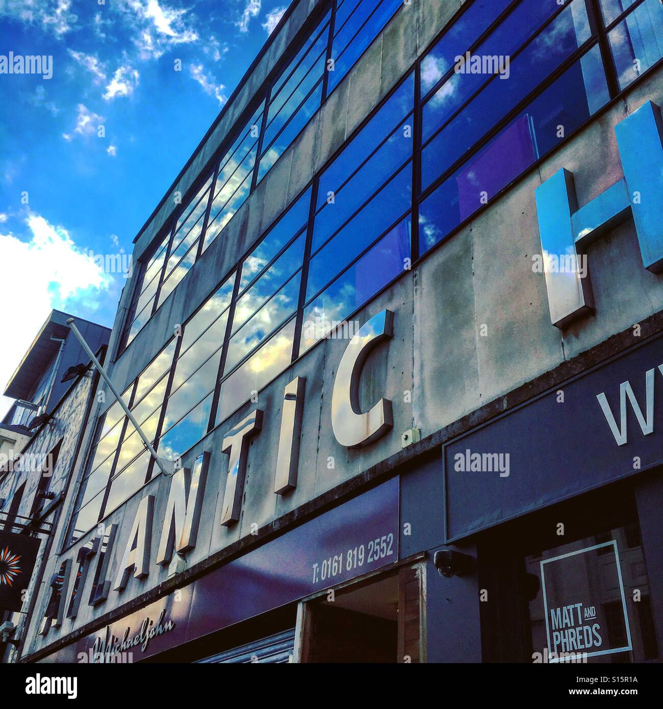 Atlantic House on Oldham Street in Manchester - Stock Image