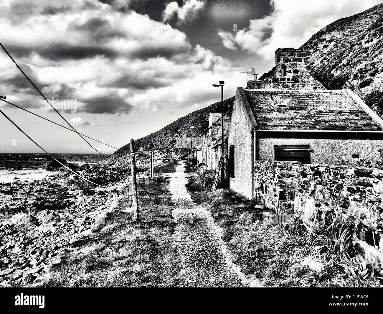 Crovie, Aberdeenshire, Grampian Region, Scotland, UK. - Stock Image