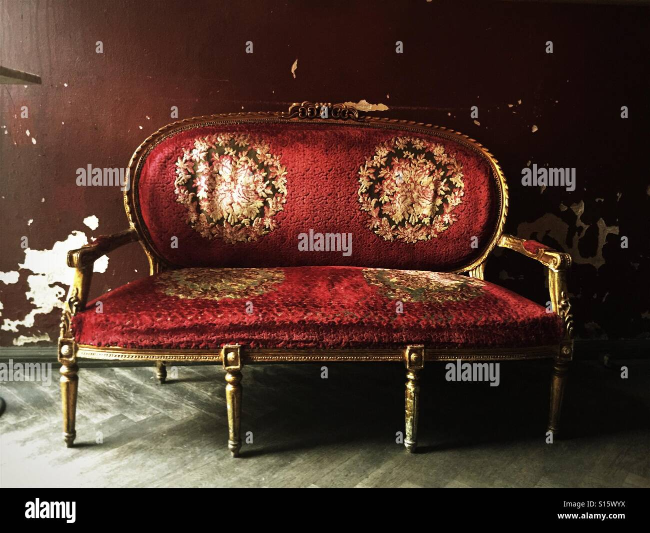Stupendous Antique Old Red Ornate Sofa Stock Photo 310531422 Alamy Gmtry Best Dining Table And Chair Ideas Images Gmtryco