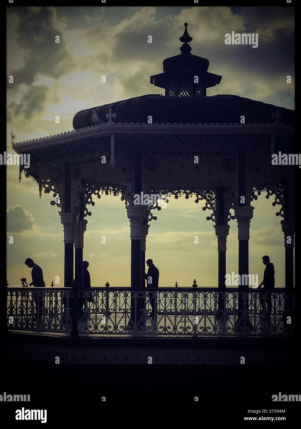 Victorian Bandstand. - Stock Image