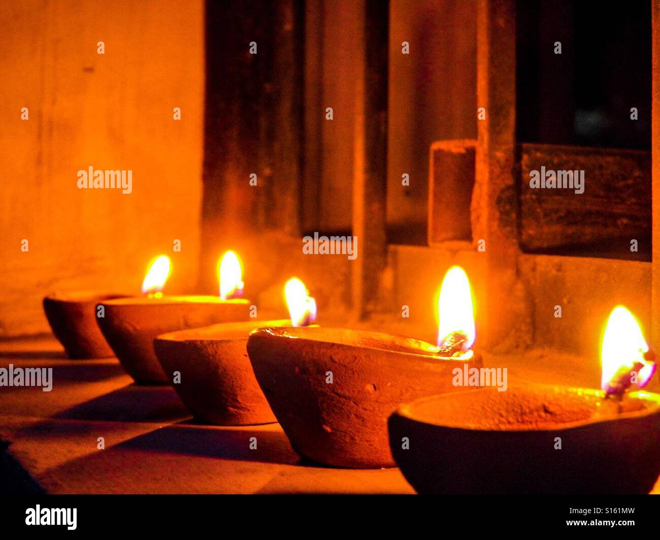 Diwali Celebrations ! :) Stock Photo