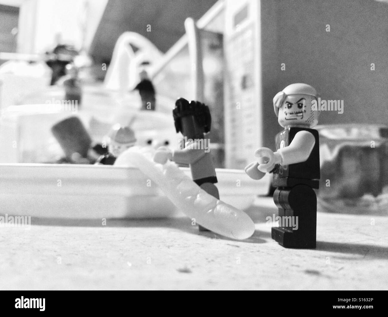 The Lego story - the after Halloween sweet theft (2) - Stock Image