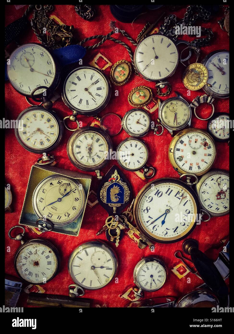 Pocket watches - Stock Image