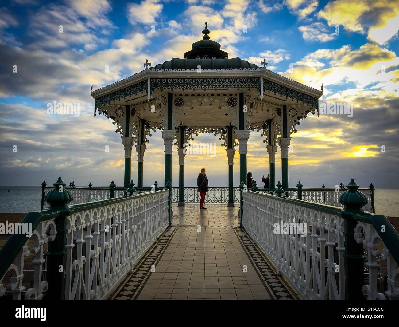 Bandstand overlooking Brighton Beach - Stock Image