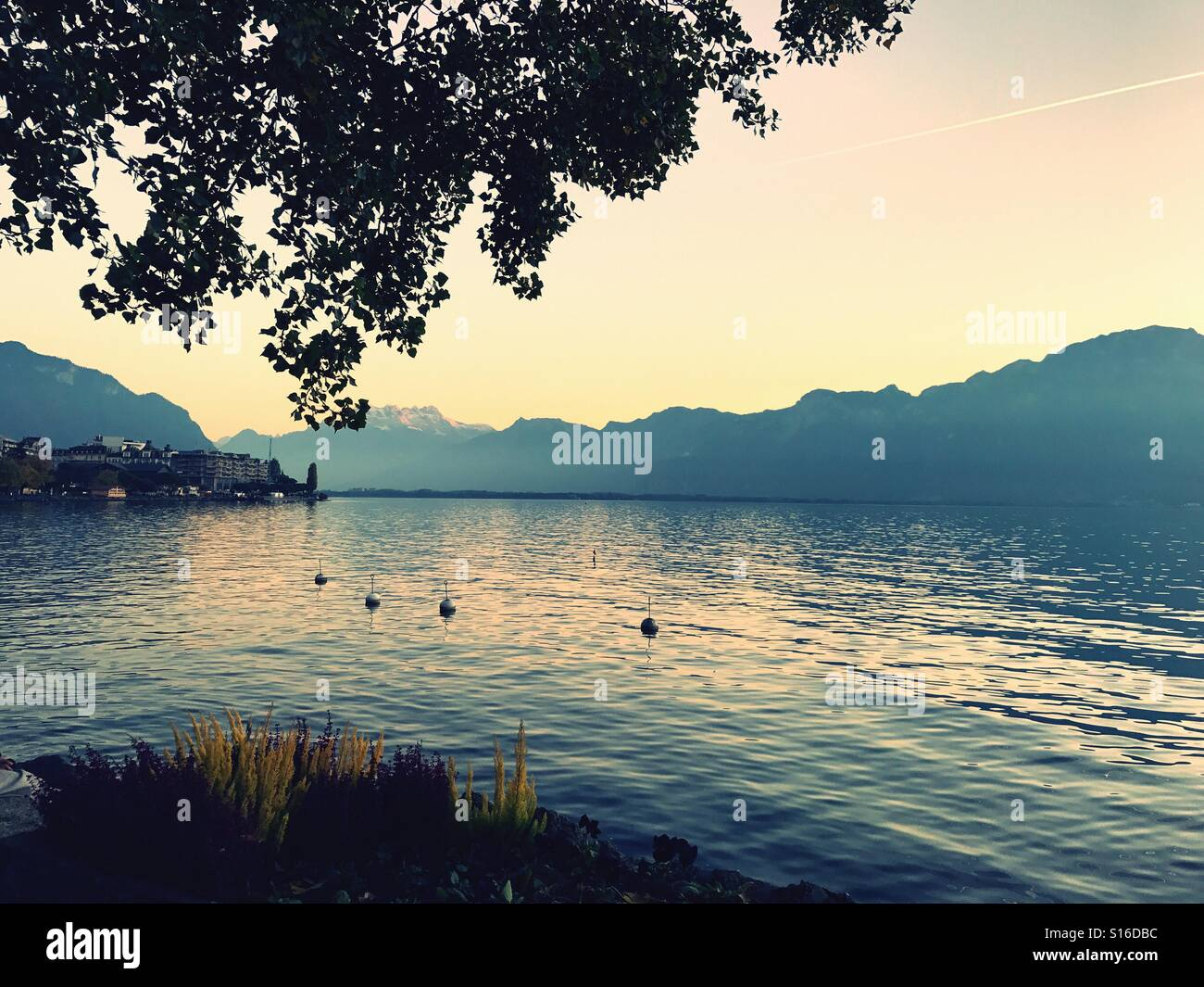 Lake Leman Switzerland - Stock Image