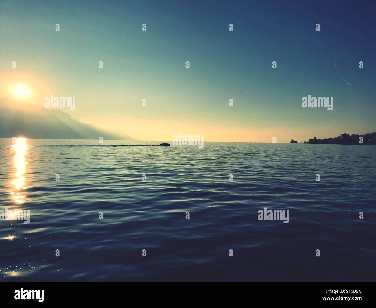 Lake Leman Montreux Switzerland - Stock Image