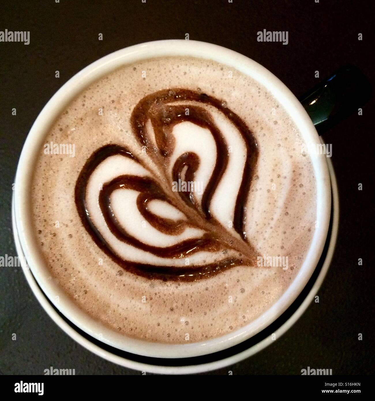 Posh hot chocolate - Stock Image