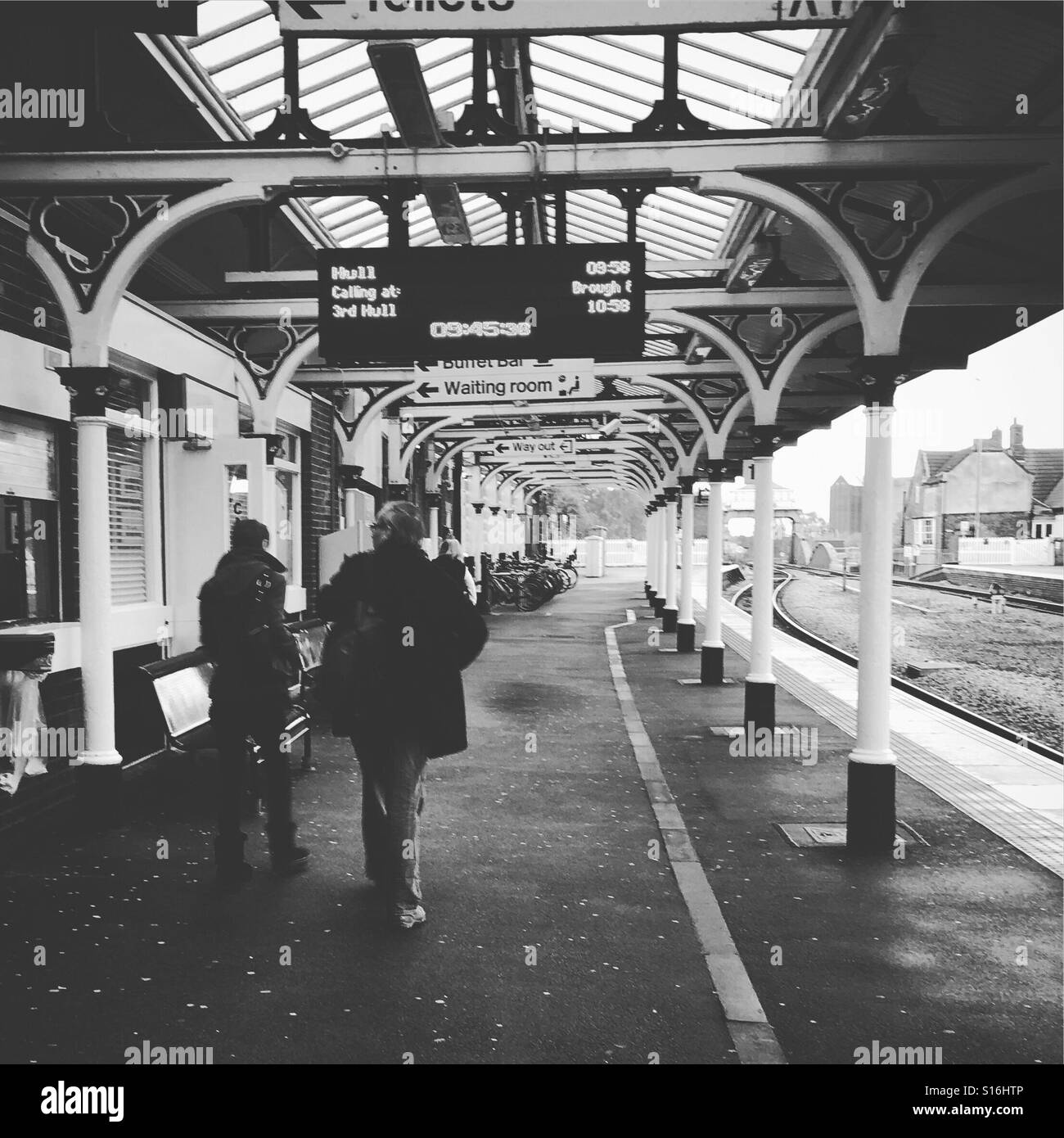 Selby railway station, Yorkshire. - Stock Image