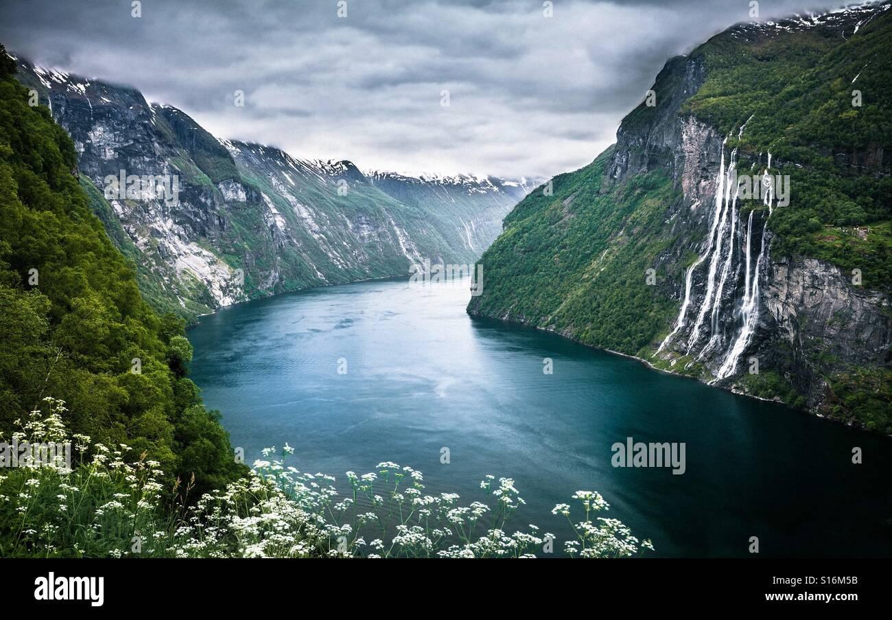 Cachoeira, rio, 4k - Stock Image