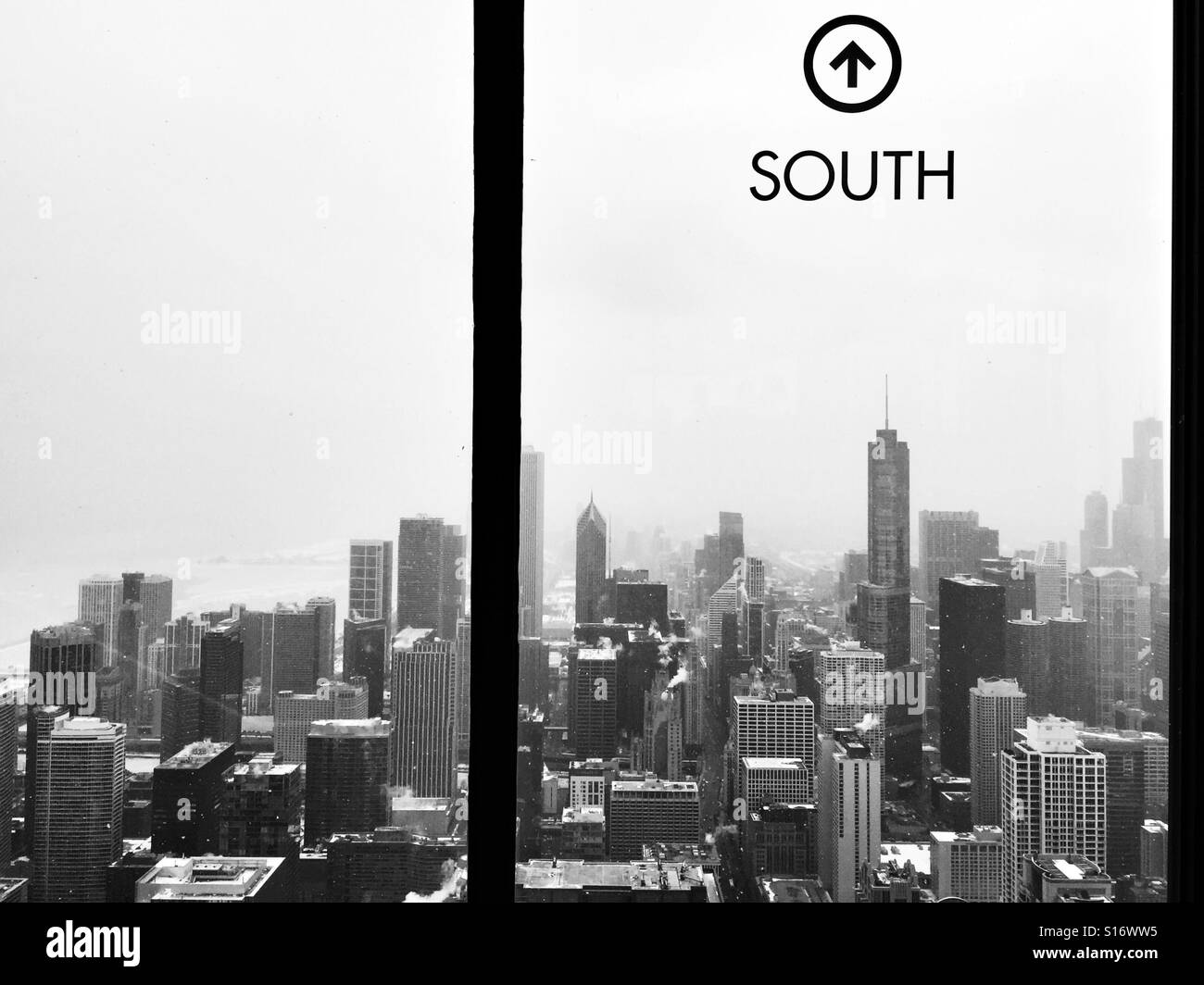 Chicago from the South side. - Stock Image