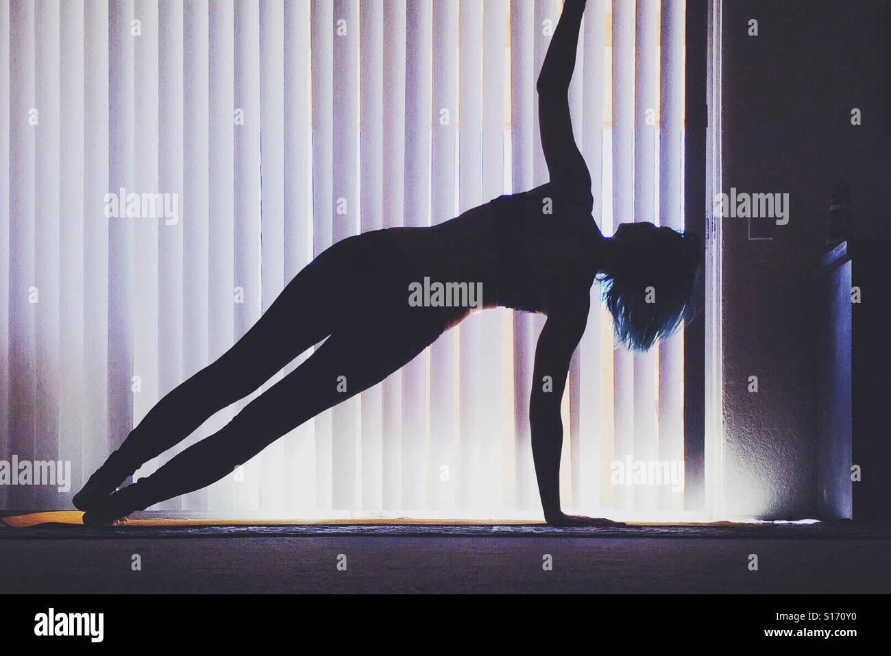 Side plank - Stock Image
