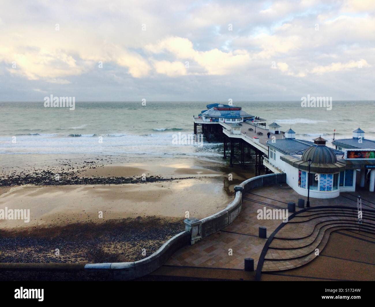 Cromer beach, cold windy October day - Stock Image