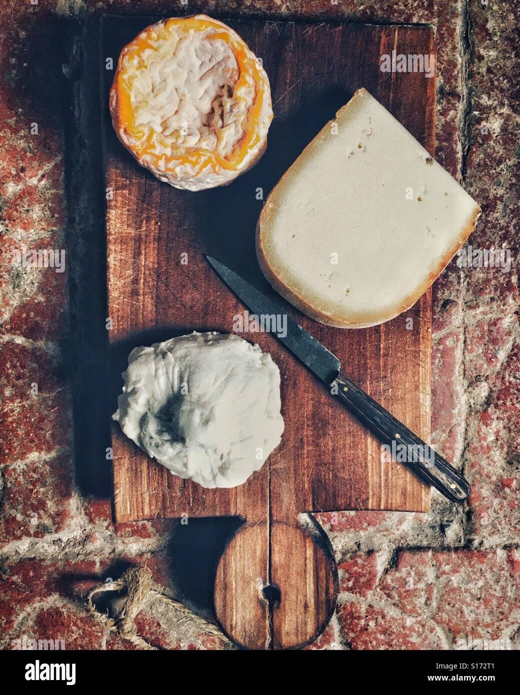 French cheeses - Stock Image
