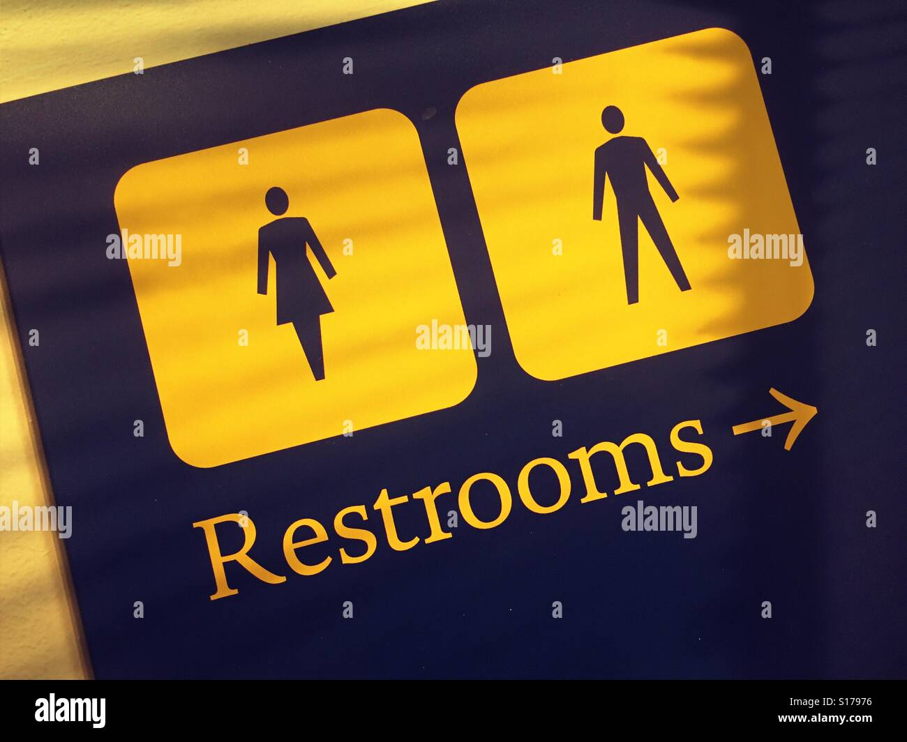 Sign for men and women's restrooms - Stock Image