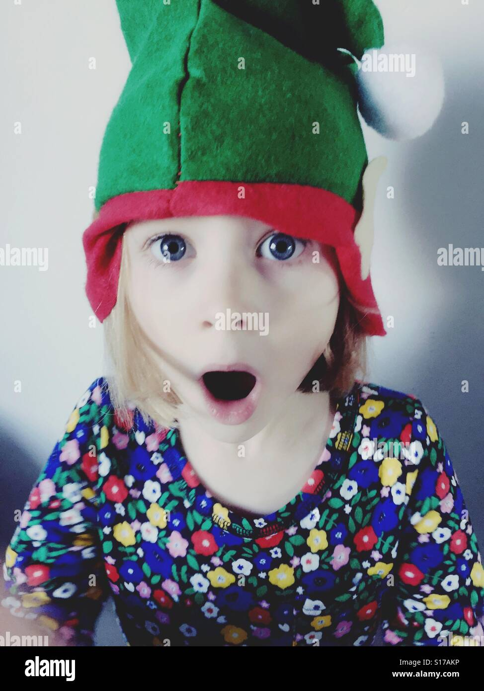 elf hat kid stock photo 310563338 alamy