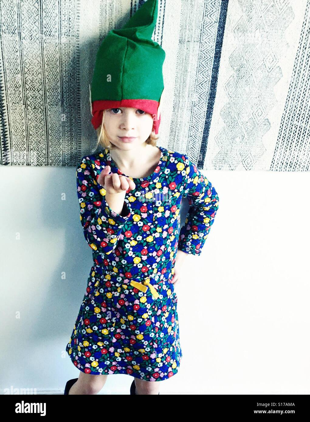 elf hat kid stock photo 310563354 alamy