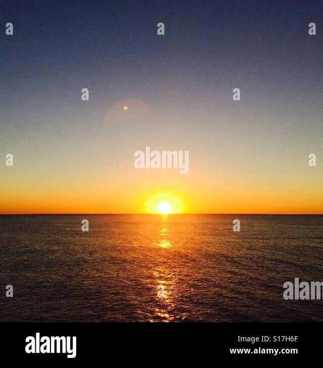 Simmering sunset - Stock Image