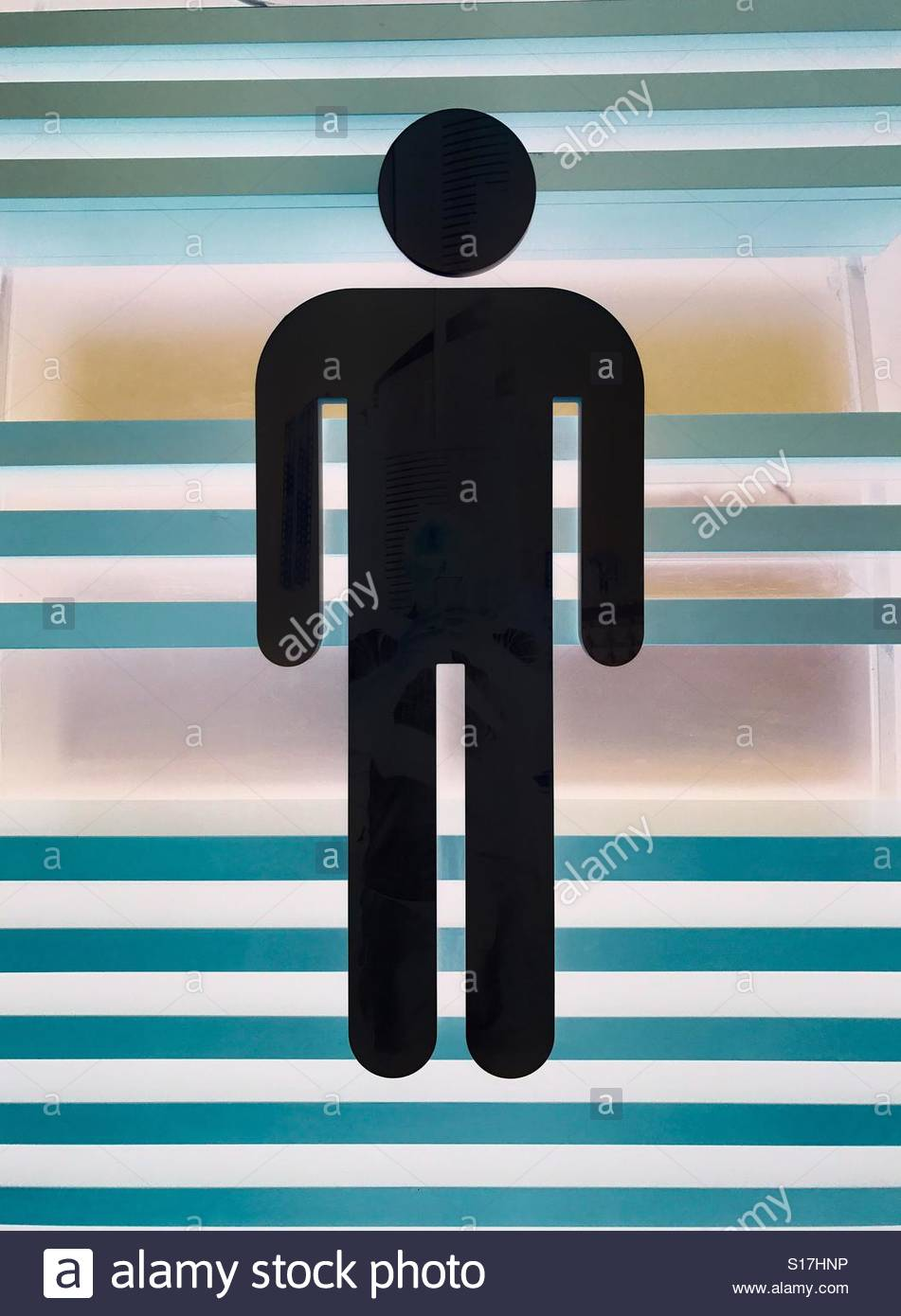 Symbol of a Man standing - Stock Image