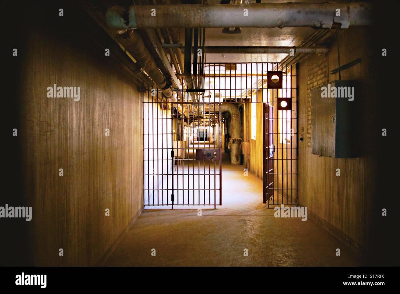 Santa Fe Penitentiary Riot Cellblock - Stock Image
