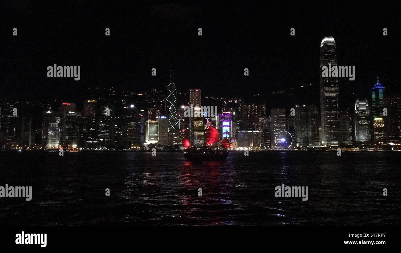 Night in HongKong - Stock Image