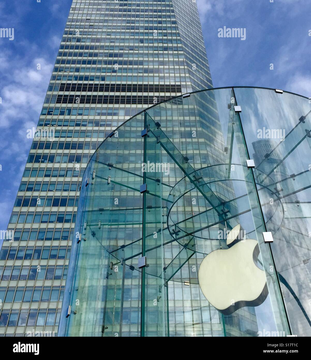 The Apple Store at ifc mall in Pudong, Shanghai, China Stock Photo