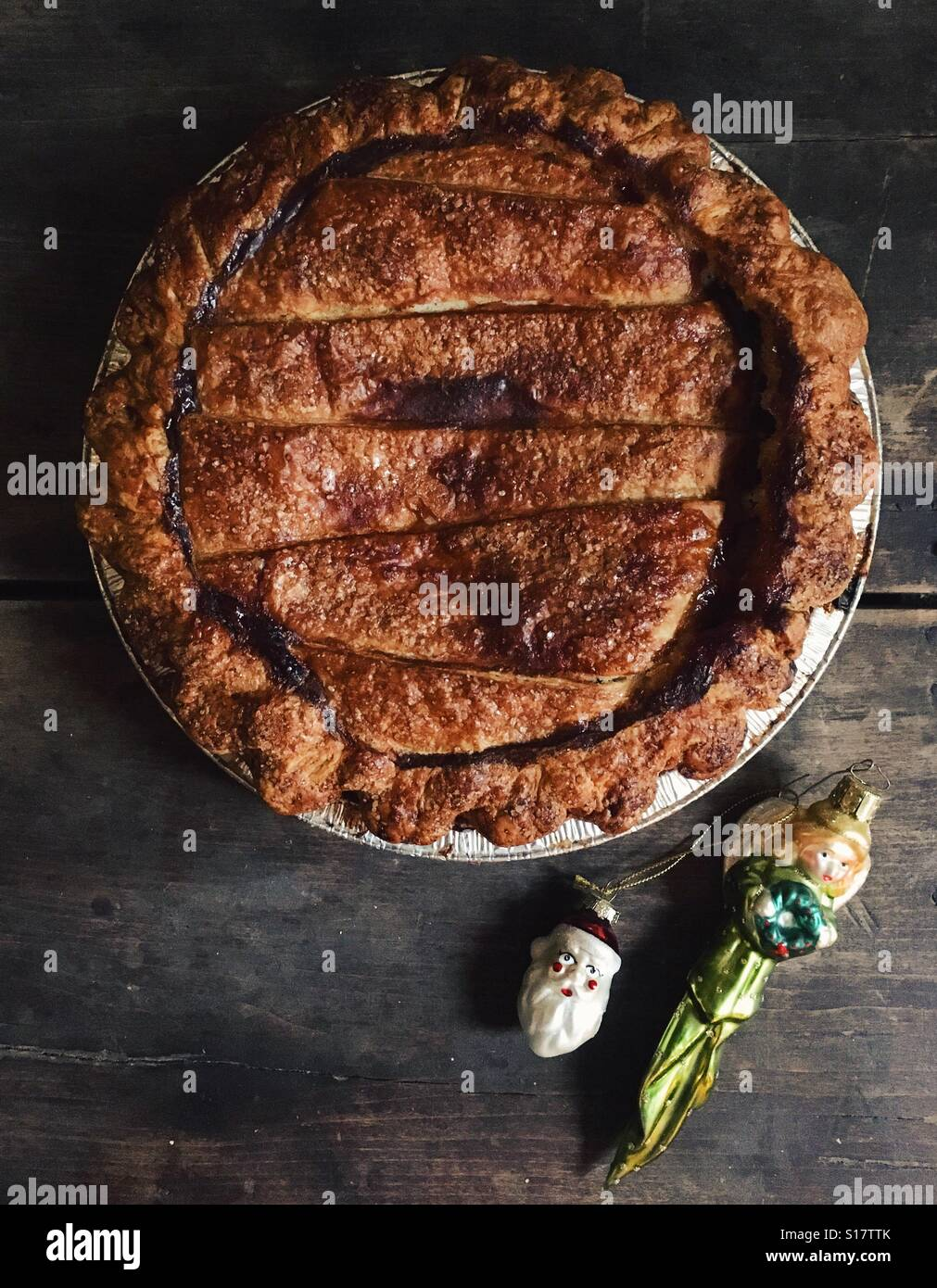 Traditional fruit pie for the holidays. - Stock Image
