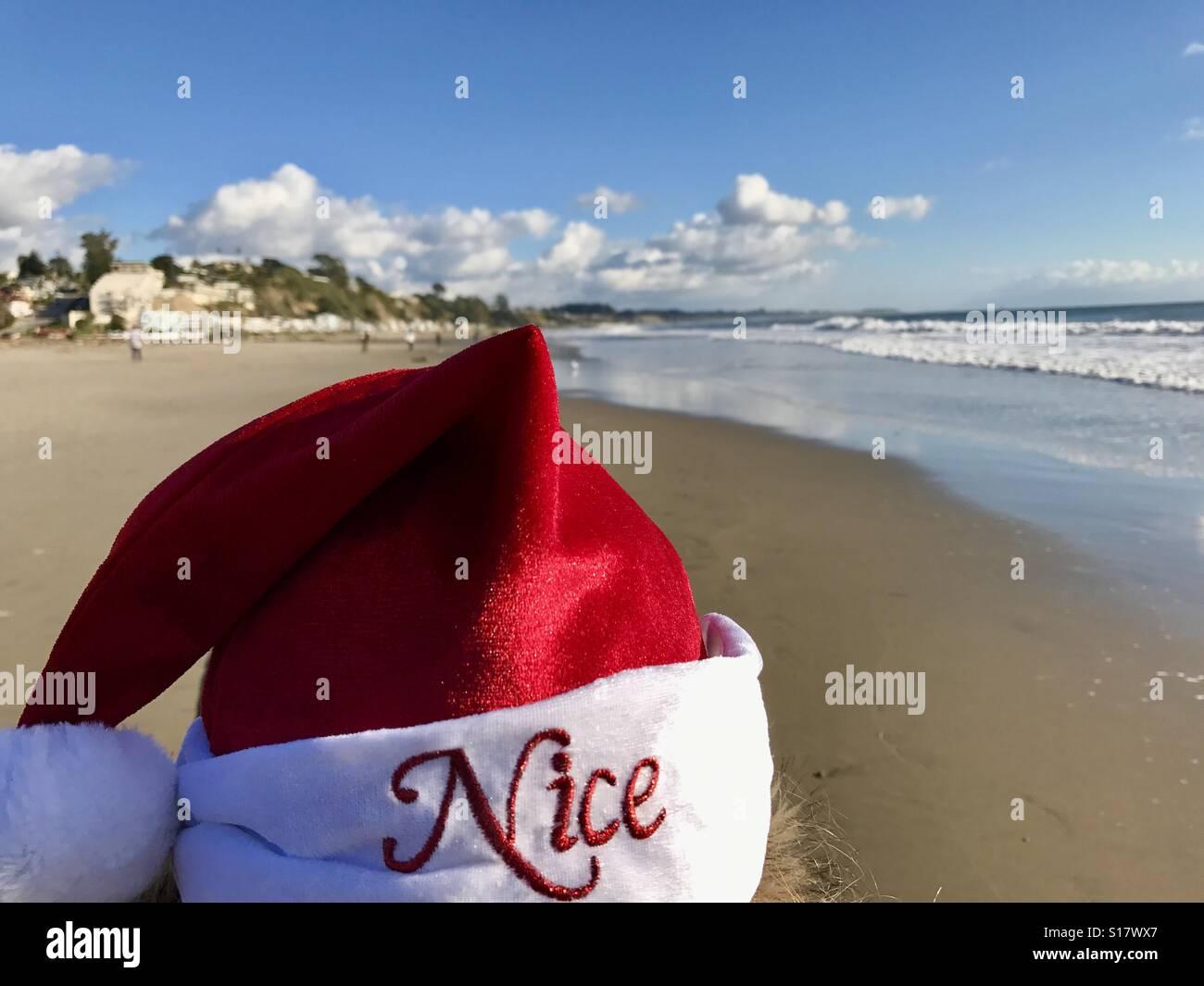 Christmas at the beach, Aptos CA - Stock Image