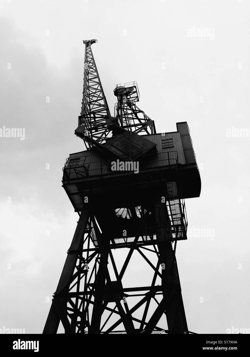 Docklands Crane - Stock Image