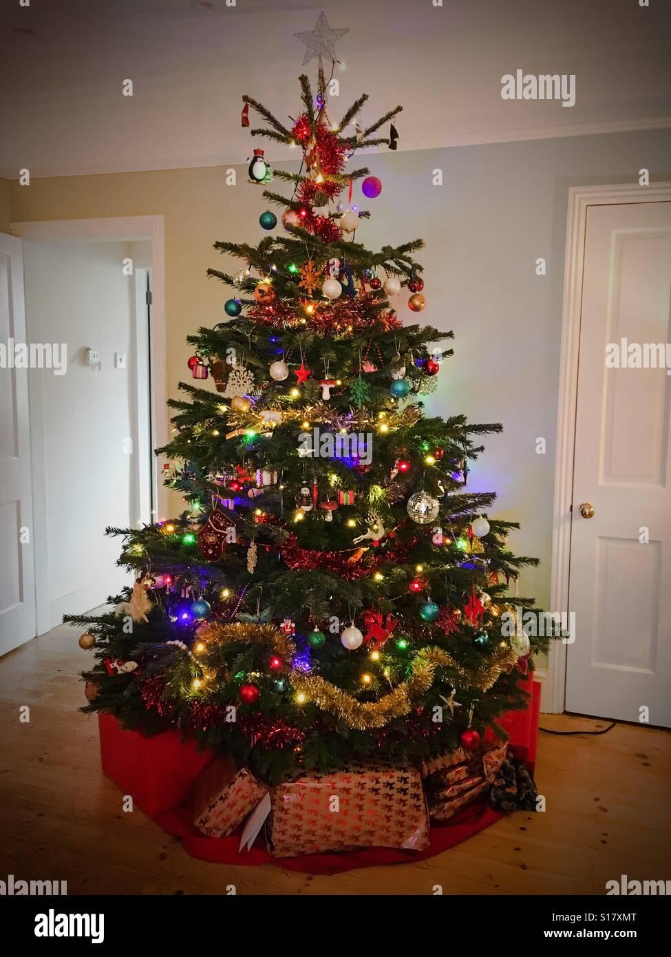 Christmas Tree With Presents Underneath Stock Photos Christmas