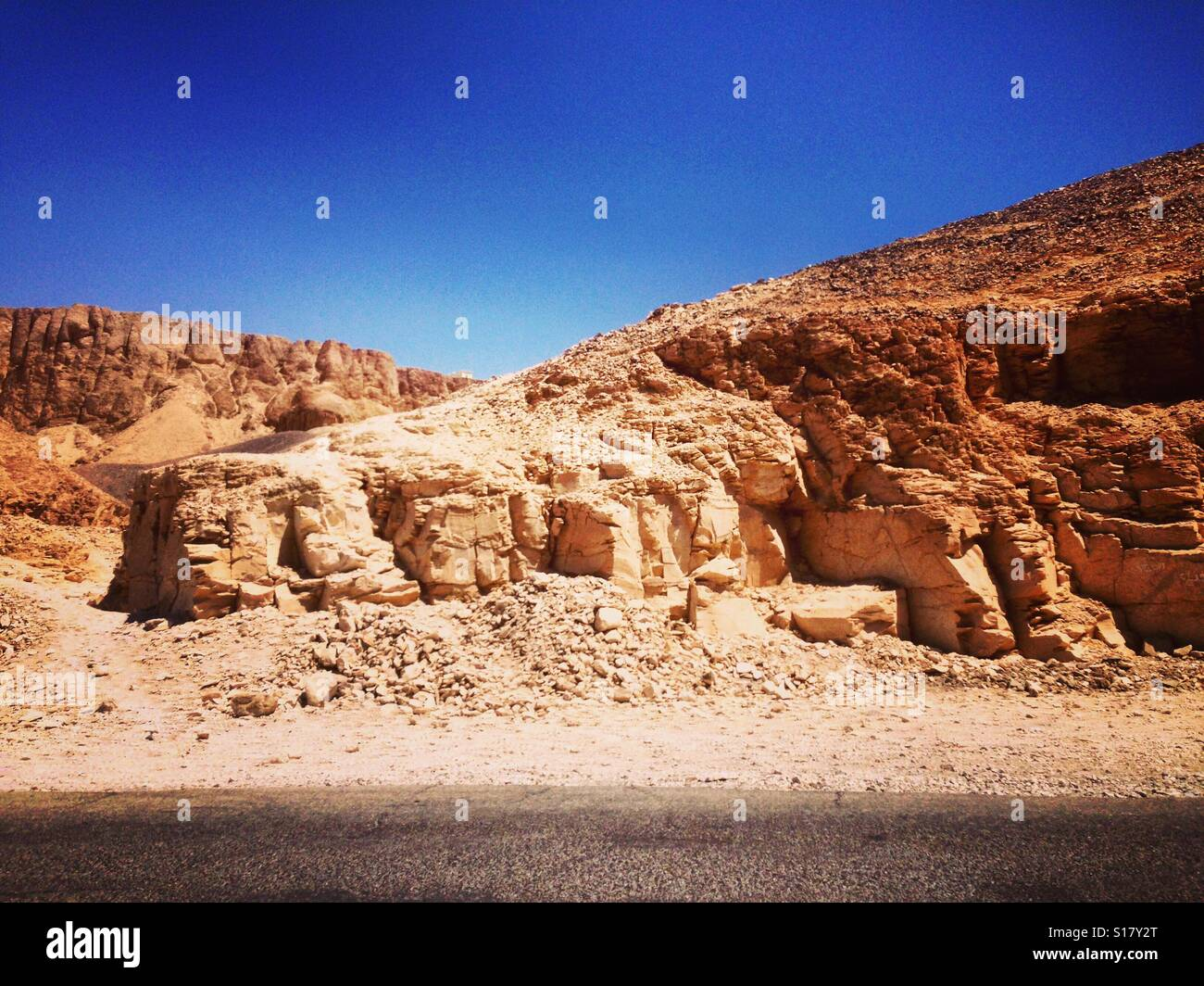 Valley of the Kings road - Stock Image