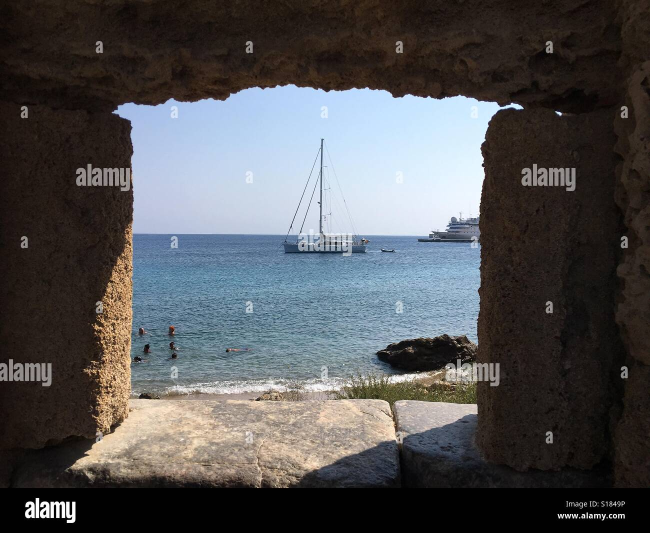 Sailboat Rhodos - Stock Image