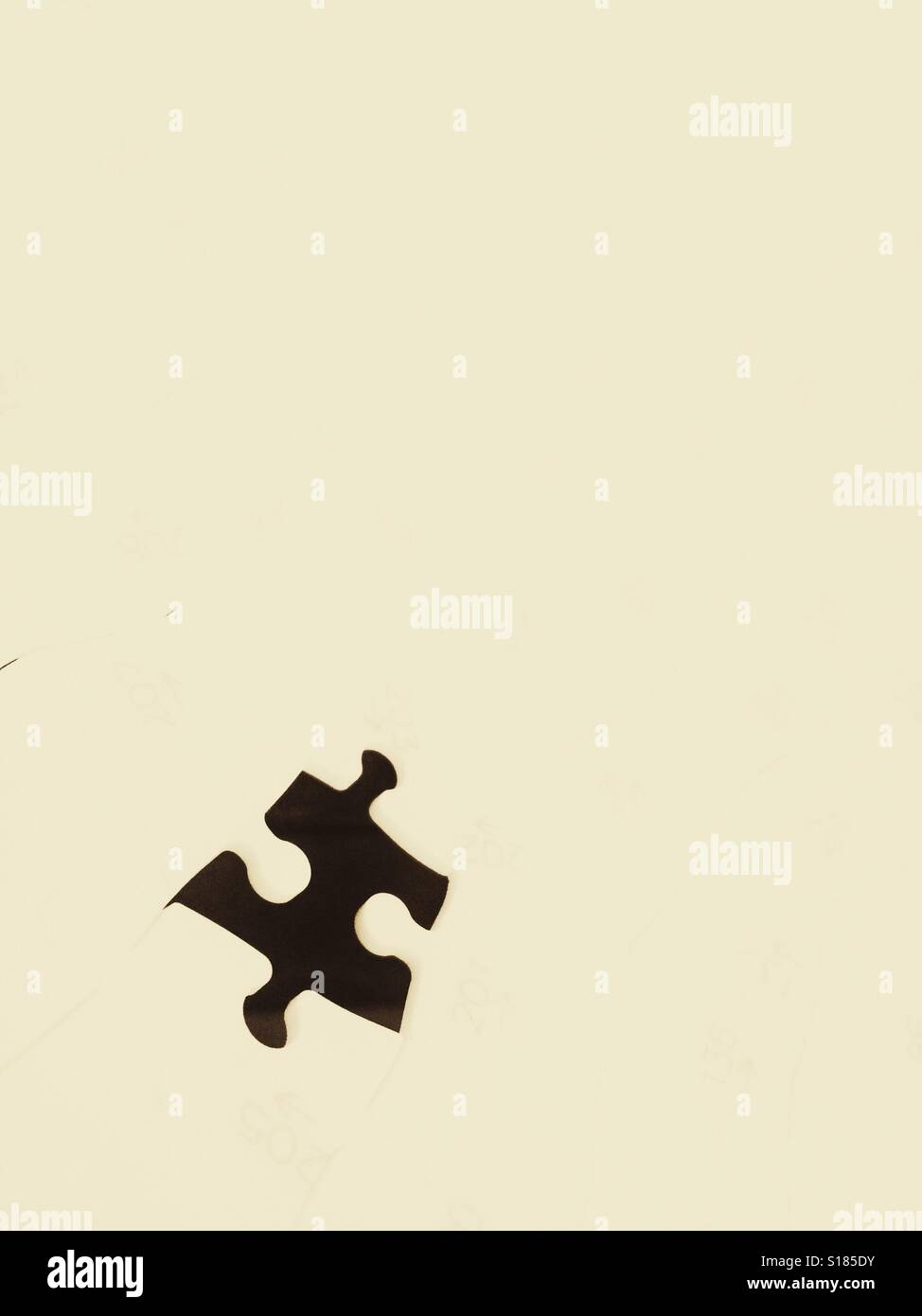 The last piece of a jigsaw - Stock Image