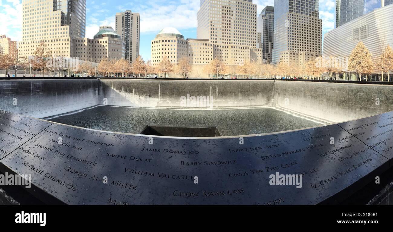 9/11 memorial site Stock Photo