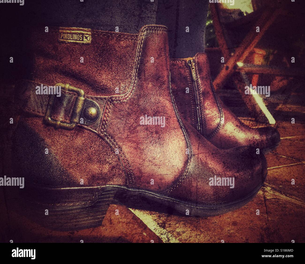 b2fd116e7acc2 New brown leather boots, Pikolinos, a popular Spanish brand Stock ...