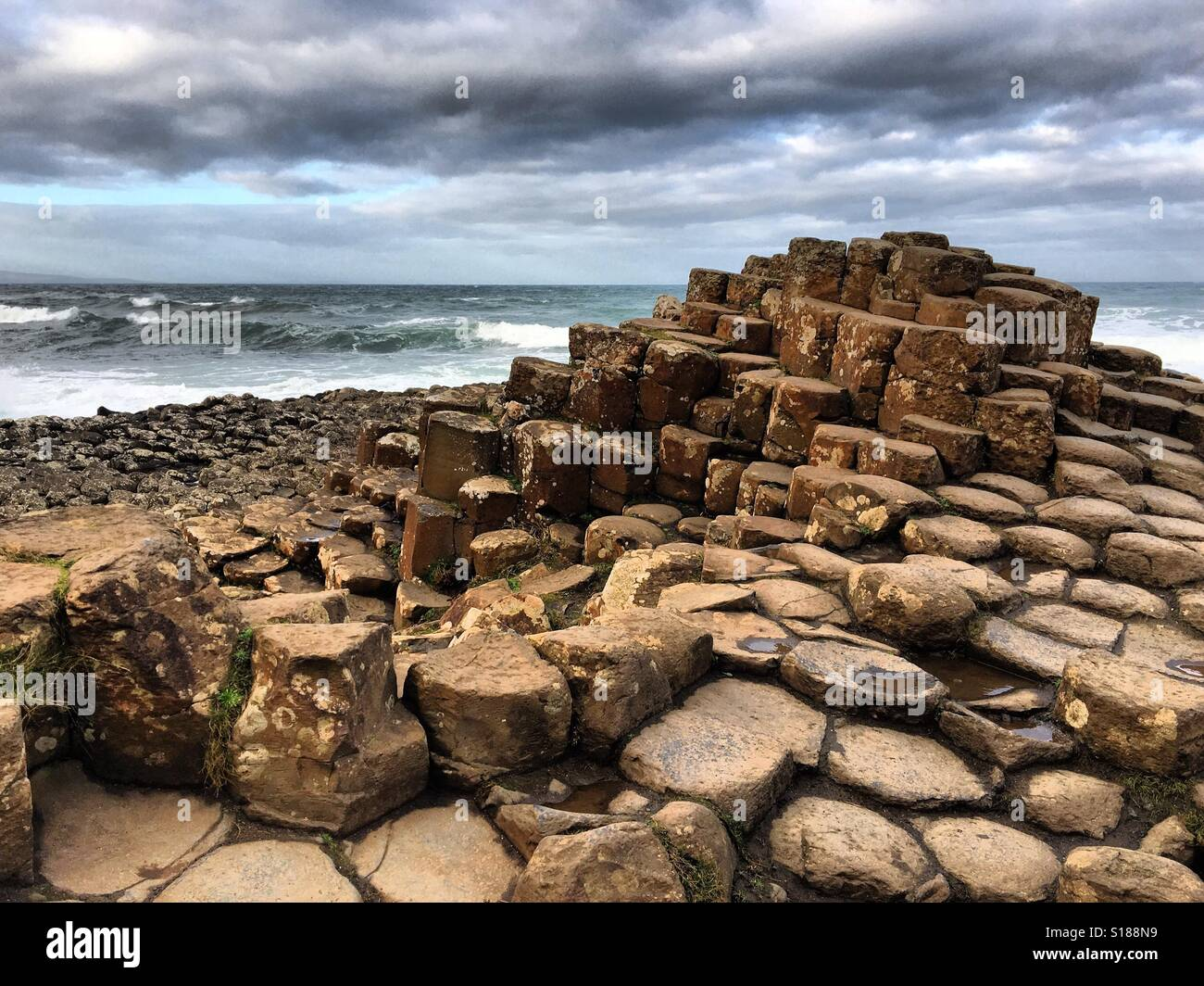 Giant's Causeway, Northern Ireland. A UNESCO World Heritage site - Stock Image