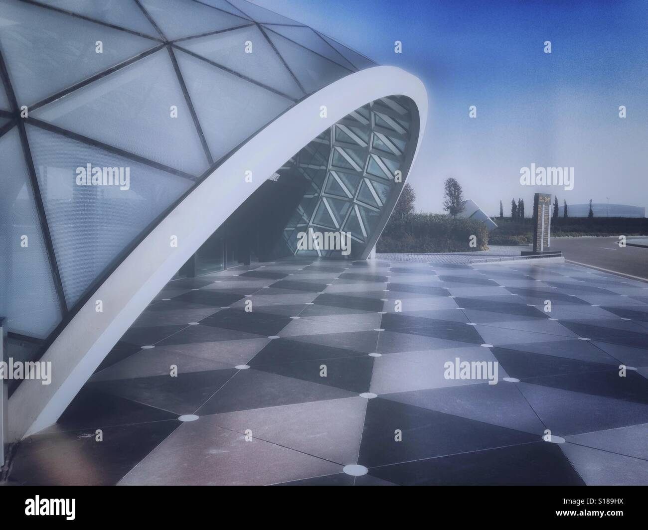 Modern architecture of Heydar Aliyev airport in Baku, Azerbajan - Stock Image