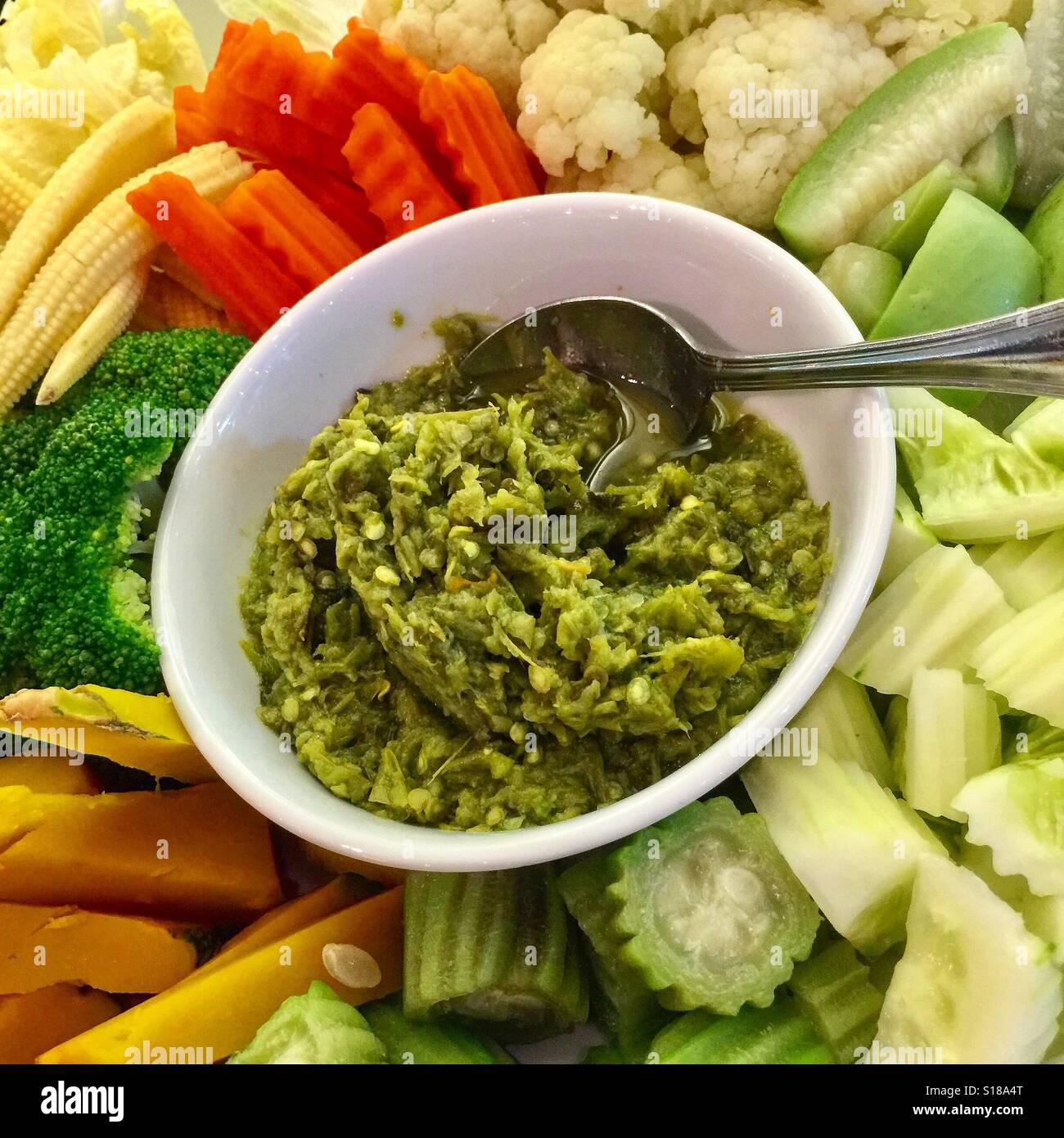 Image result for nam prik and steamed vegetables northern thailand