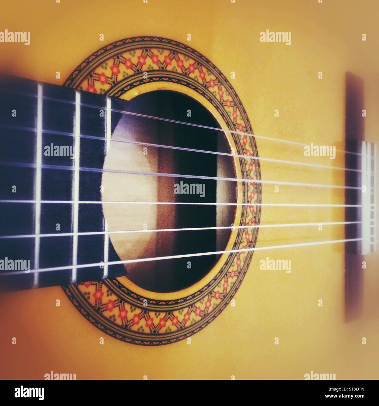 An acoustic guitar - Stock Image